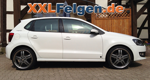 vw polo 6r mit dbv costano 18 zoll alur dern in anthrazit. Black Bedroom Furniture Sets. Home Design Ideas