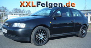 Audi A3 8L + DBV Arizona black 17